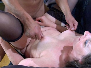 Lewd older chick makes a guy put aside his laptop aching for mighty dicking
