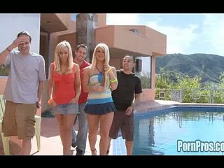 Breasty golden-haired LA gals are alot of fun. Especially when u get the chance to blast a huge load on their unsuspecting slutty faces. Jessica and her ally get ejaculation surprised after school and when we take 'em back to our place they let loose their huge bra buddies just fucking to get cum drenched! Those dumb youthful..