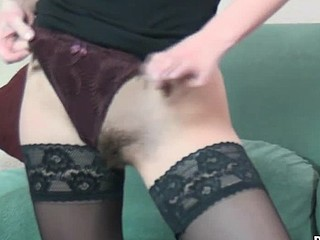 Alexandra is skinny and playful cutie, and that babe will take any opportunity to have some action. Here this babe strips and then takes the vibrator and sucks it. Right after that that babe sticks it in her flawless hirsute bawdy cleft to show how unfathomable that babe can take it.