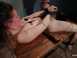 Bonnie Day is a brown haired milf who, craving for some man meat, calls up her friends to help her having some pleasure. She loves being tied up to a table and having electrodes on her lovely body. Ashley Fires and Lorelei Lee are two experienced hot blonde milfs and they know how to please a women's needs.