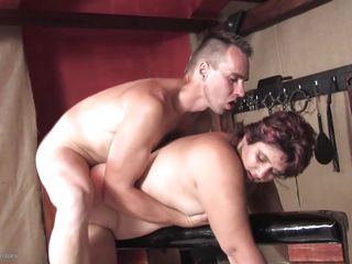 Having all the tools he needs near him this guy prefers using his favorite tool to fuck this chubby mature hard and deep, his cock. He rides this bitch's ass from behind and shows her what a hard fuck is all about making her satisfied. Want to see some more, probably in the end she will cherishes his semen