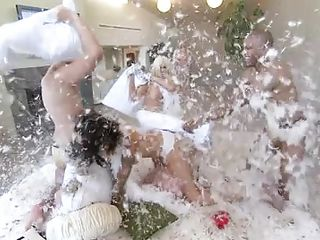 They are simply crazy and they are inventing these crazier games to heighten the feel and tension in the sexual encounters of all kinds. They even start a pillow fight s that can study each others bodies up close and personal. they are willing to try everything from lesbian kissing to hot bisexual.