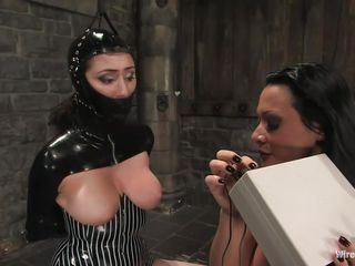 Sandra is a Romanian whore, she fulfills her dream as a mistress and we get to watch her doing what she loves most. With an obedient, tied up sex slave in front of her Sandra does her life time passion and punishes the chick. She uses electric shocks and then a stick on those sexy thighs and hot ass