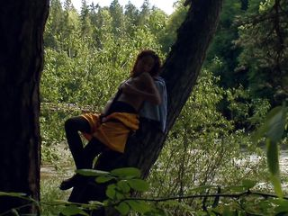 Here in this video sexy babe Natasha has shown her another side of her characteristics that she loves adventure. This slutty babe is undressed and spreading her legs to rub her pussy right on a tree. You can hear her moaning too which will increase your temptation to come closer to her and fuck her badly.
