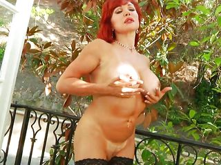 What can be said about Vanessa? She's a lustful devil that needs cock and semen in her gorgeous body. The experienced mommy has a lot to offer and if we behave and pay her our complete attention she will offer us her best. Stay with her and enjoy how she lustfully fucks that welcoming vagina between her thighs