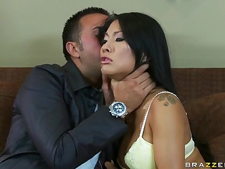 Sensual Asian Asa Akira Getting Fucked By A Big Dick