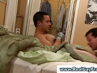 College teen turned twink gives blowjob
