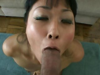 Sensual asian Yuki Mori gets a mouth full of hard cock