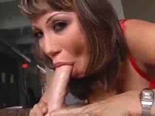 Ava Devine gives a wet deepthroat BJ