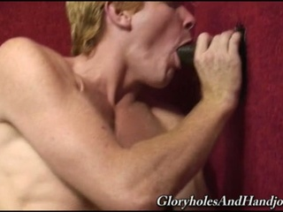 Blonde twink sucks a chocolate cock