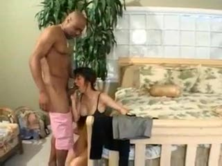 Black guy fucks the wet Asian pussy from behind