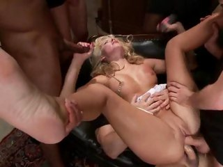 Filthy Katie Summers gets her face splattered with cum