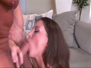 Sara Stone swallowing a big hot throbbing cock