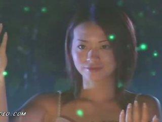 Fucking the Asian Beauty Grace Lam by the Bonfire