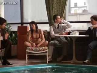 Hot Tanya Roberts Having Fun in the Pool