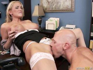 Blonde Babe Blake Rose Titty Fucks Her Boss To Take Cum After Anal