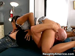 Cassandra Cruz is licked up and down until she squirts higher than old faithful.