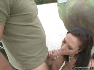 Dominno enjoy a hard blow for a horny guy