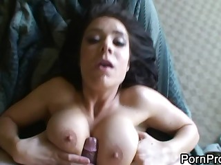 My dark-haired ex girlfriend Beverly Hills was busty one. She loved riding my cock in her wet pussy with her panties on. And I loved fucking her sexy pretty big titties. This POV porn video has it all.