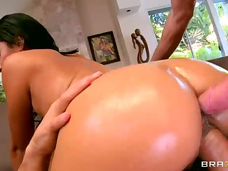Bubble ass latina Cassandra Cruz gets double stuffed