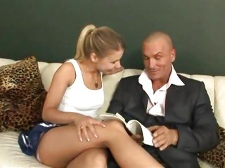 Naughty Nikky Thorne fucks her boyfriends dad