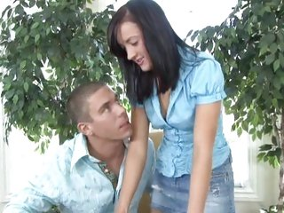 Teen Aurora Chase gets busy with a muff hungry cock