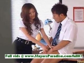Yuki asada from idol69 mature asian teacher at school gets a blowjob