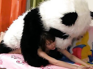 Tonight this cute dark brown is a wonderful fairy, and that babe can make any crave come true. So why not make her own desire come true, then? And the frisky chick turned her diminutive teddy bear into a large fluffy panda. Having him around was so fun! They danced and laughed and lastly even had strap on sex! And why the hell..