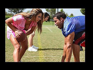 Carlos is playing football against some other team of large titted chicks and is having problems concentrating on his game. As much as this guy tries to ignore 'em, the sight of large titties leaves him vulnerable to being tit tackled.
