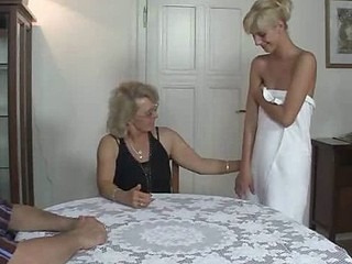 Lesbian sex with BF's mom