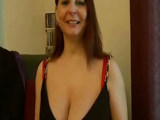 British MILF in a dress strips