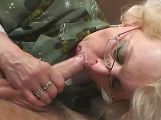 Young guy fucks hot granny hard