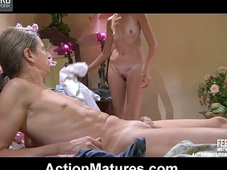 Nasty older doctor gives a patient her most good oral and rod-riding treatment