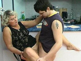Filthy aged chick knows how to please younger guy in engulf-n-fuck action