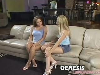 Hailey Paige and Alexia are your typical horny twenty somethings. What more excellent way to fill their afternoon than with two hung studs who cannot expect to fill in all those empty holes! Clothing go flying and the sweat starts rolling down their backs as the action turns very heated. The large couch they share gets a..