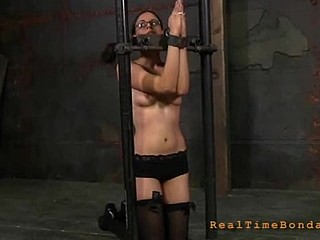 Sexy beauty gets fastened hard