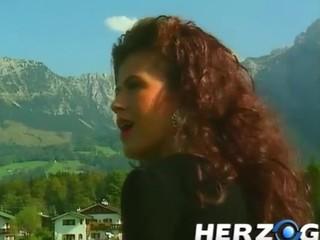 Sexy slut rides a old bavarian peasant