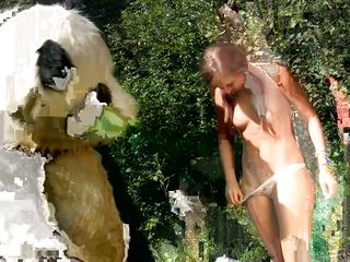 Panda like nature and fucking so why not combine them. He's out with this horny slut and has a lot of fun with her mouth and pussy. First he takes off those panties and now that she's naked Panda can get wild with her. She licks his big thick cock and prepares her ass for it. Wanna she how wild they can get?
