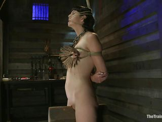 The good looking brunette milf Coral Aorta is having the pleasure of a lifetime with her male friend. She has him punish her like she wants. He first attaches a bunch of clothespins to her tits, then he uses a big vibrator to enhance the pleasure. She starts moaning as she needs to have his cock inside her.