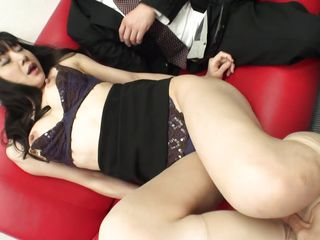 Miho Wakabayashi is a beautiful, mature Japanese woman. She fucks two men at the same time. One sucks on her tits while the other eats out her pink pussy. She loves having her puffy nipples pinched and her cunt eaten out.