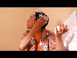 This guy is a bit mad, putting shaving cream on his head and so on. A blonde babe is in a quest and starts with him until ending up to Mr. Lee. Things are complicated so let's rather watch that hot doc sucking the mad guy's dick like a slut and what happens next with the blonde and Mr. Lee.