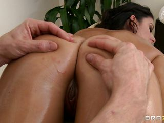 Nikki Daniels is hot slut with a hot ass and very sexy body. Look how much she enjoys having a pair of hand on her ass and how he touches her tight pussy getting her horny. Are her long legs and her sexy body gonna bring her any cock?