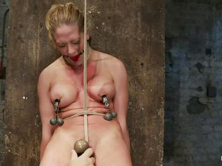 Her naked body is enough to make a man or a women horny and ready to fuck her but why not punish her for being so sexy. They've tied her and ball gag her mouth and after that, rubbed the delicious cunt between those hot thighs with a vibrator until she moaned with lust. The rope that goes right between her pussy lips and the..