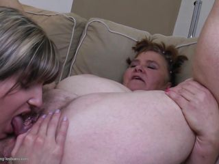 Oh yeah, take a look at this younger lesbian licking that fat hairy cunt. The mature whore keeps her legs wide spread to receive that soft tongue in her pussy. Valaria licks it hard and the taste of a older cunt makes hers very wet. Wonder what will these fucking whores do next? Will they get really dirty?