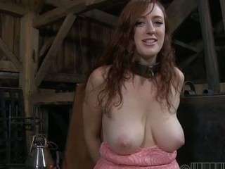 Lovely beauty gets facial torment during s&m play