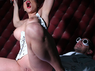 Sexy kinky British honey Cathy riding her sex thrall