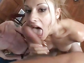 Cocok sucking blonde bitch plays with two hard saussages iin threesome