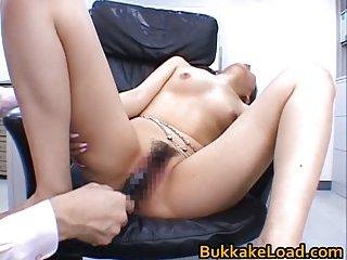 Aya Matsuki gets toyed in office