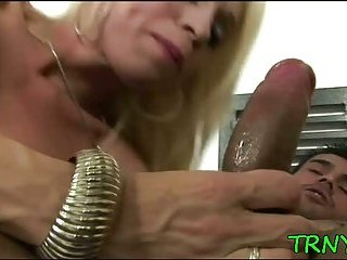 Tranny tries dirty experiments