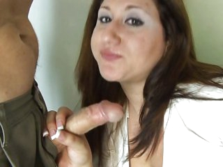 Chubby chick loves to eat some dick